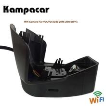 Kampacar 2 Auto Wifi Dvr della Macchina Fotografica Auto Video Recorder Per La Volvo XC90 2015 2016 2017 2018 2019 Due Dual Lens dash Cam Mini Auto Dvr