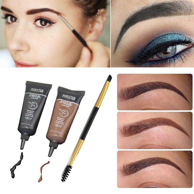 2pcs brand makeup eyebrow enhancer tint my eyebrows gel for Tattooed eyeliner brand