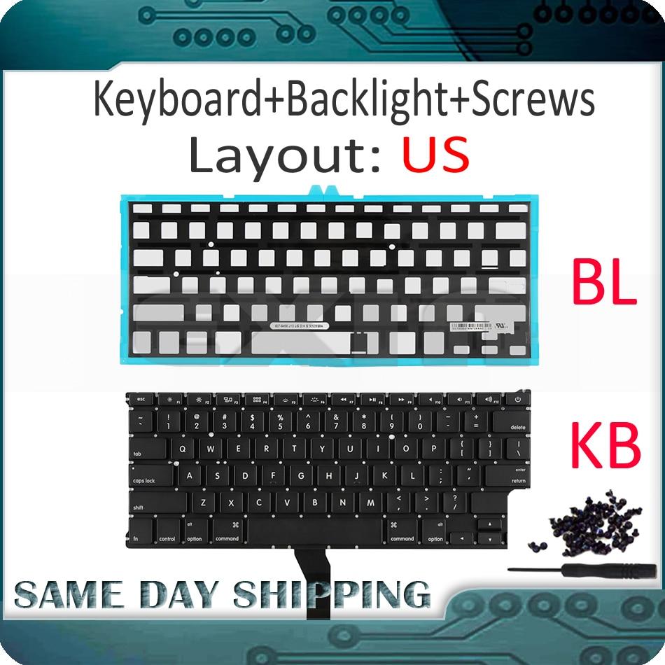 "New CZ Czech Keyboard Backlight for Macbook Air 13/"" A1369 A1466 2011-2015 Year"