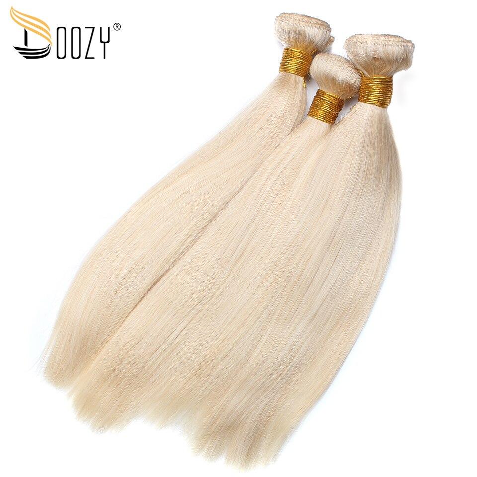 Doozy Color 613 Blonde Human Hair 3 Bundles Hair Extensions Remy Straight Brazilian Hair Weaving