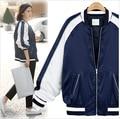 2017 Spring New Brand Plus Size L-XXXXL Fashion Patchwork Jacket Women Long Sleeve O-neck Zipper Jackets  Hot Sale Coat LQ490