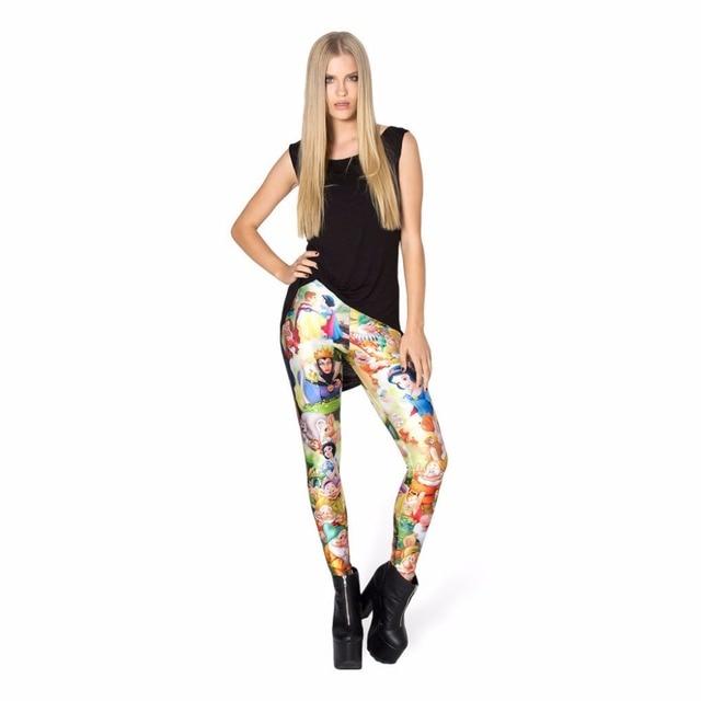 High Quality Women Leggings New Fashion 7 Dwarfs Print Leggings Cheap Price Girls Ankle-Length Leggings Free Shipping Hot Sale