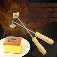 DIY Custom fire stick copper mold cake leather Embossing LOGO Stamping Kitchen Baking tools English letter burns