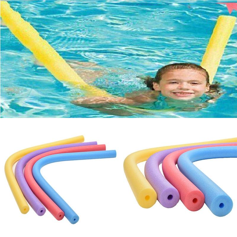 1 PCSFloating Woggle Swim Flexible Row Ring Pool Noodle Swimming Kickboard Hollow Learn Foam Water Float Aid 6*150cm