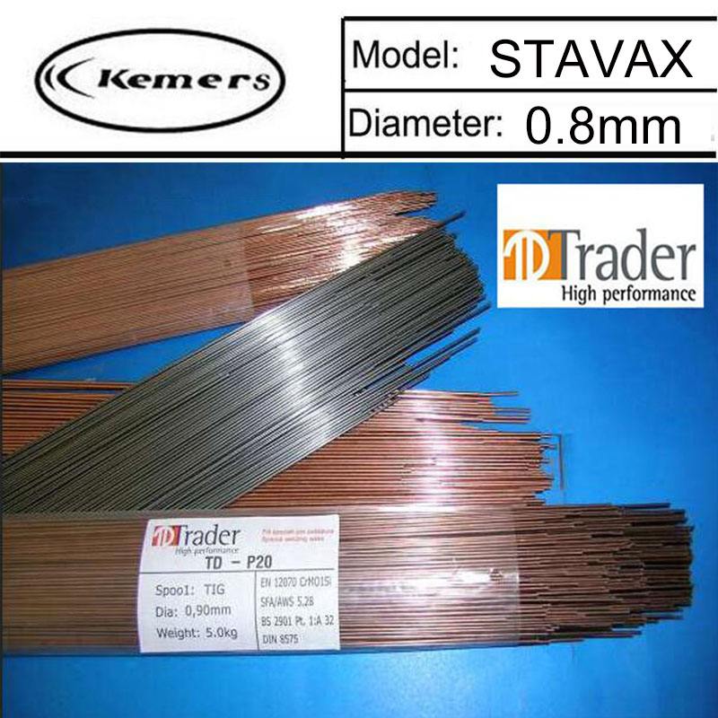 1KG/Pack Trader Mould welding wire STAVAX pairmold welding wire for Welders 0.8mm LU0450 1kg pack kemers mould welding wire trader 2379 of 0 8 1 0 1 2 2 0mm pairmold welding wire for welders lu0444