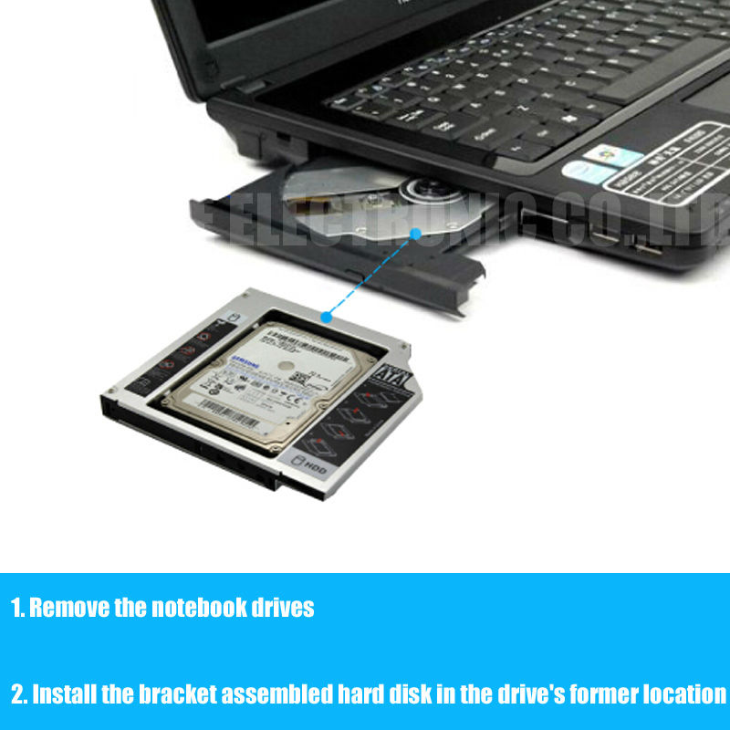 For DELL N4050 N4030 M4010 N5010 M5110 N5110 SATA 3.0 2nd HDD Caddy SSD  Adapter DVD ROM Optibay 12.7mm Thickness|thick| - AliExpress