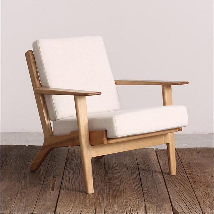 Japanese Single Person Sofa / Retro One Seat Sofa/simple