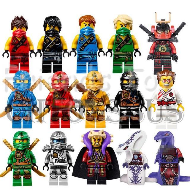 Ninjago Toy Minifigs Collection Cole Kai Jay Lloyd Nya Skylor Zane