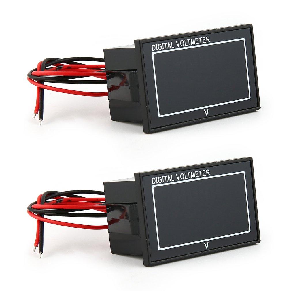 2PCS DC 5V 70V LED Digital Display Panel Voltmeter Electric Battery Voltage Meter Volt Tester for Auto Battery Car Motorcycle