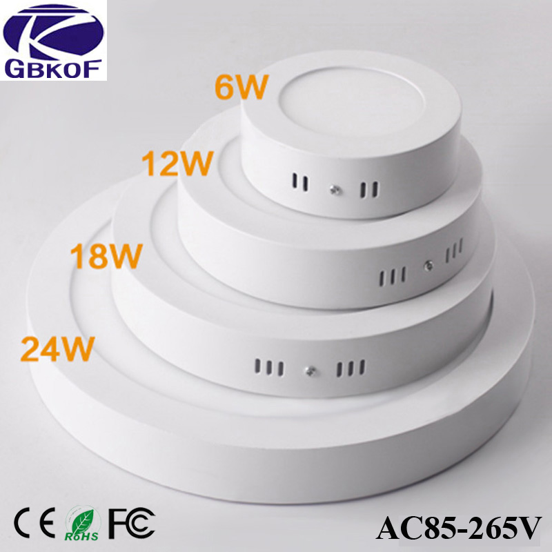 Non-dimmable 6W 12W 18W 24W Super Bright Round Surface LED Panel Wall Ceiling Down Light Mount Bulb Lamp for bathroom illuminate light colorful ceiling lights restaurant creative children s room bedroom balcony corridor lamp shell ceiling lamp za