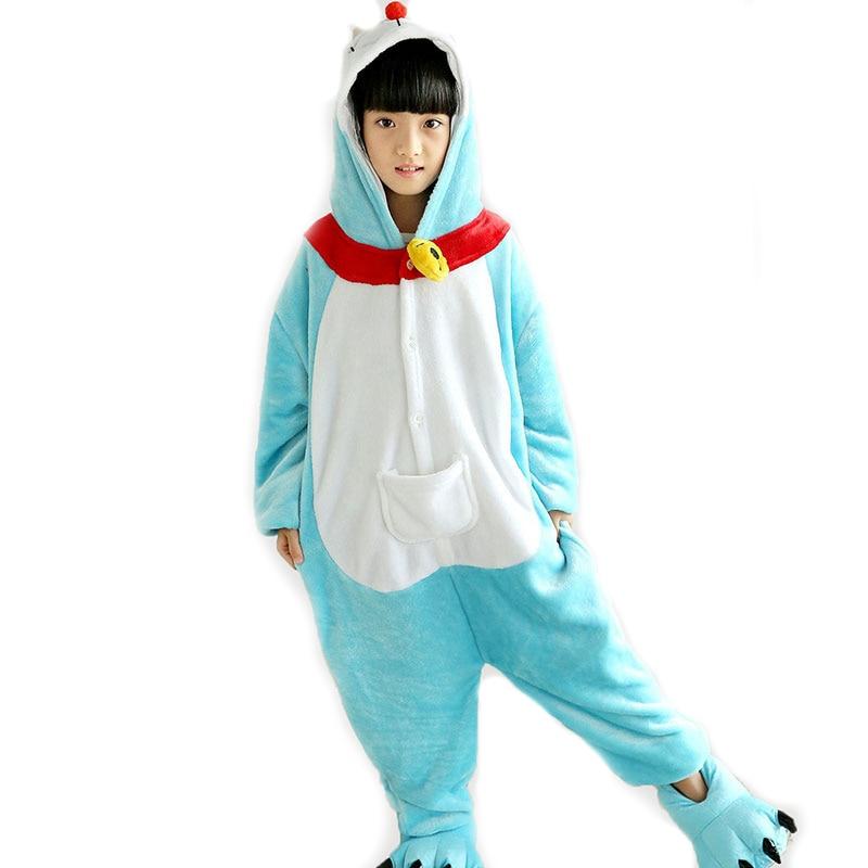 Centuryestar Doraemo Totoro Animal Pijamas Children Flannel Hooded Pajamas Onesie Kids Pyjamas Costumes For Girls Boys 10Y