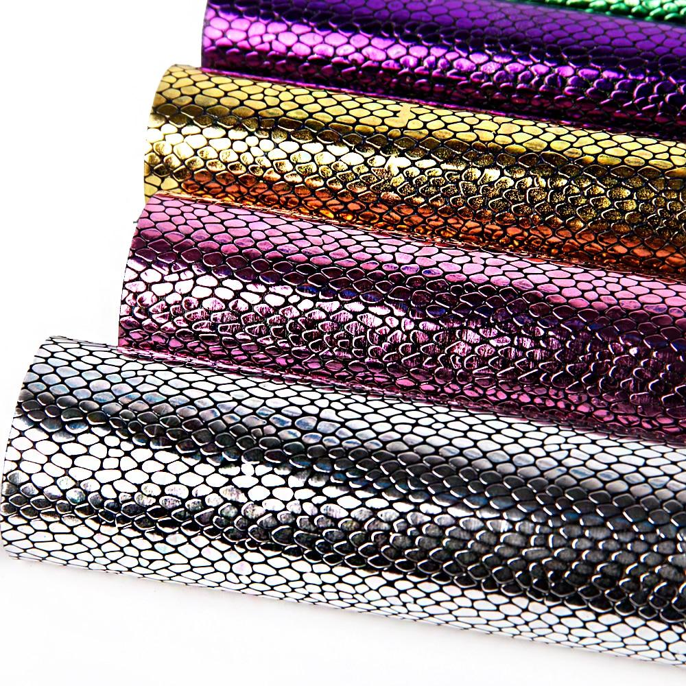 David accessories 20*34 см змея синтетическая кожа PU искусственная кожа, DIY швейная ткань сумки обувь, 1Yc2768