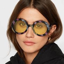 2074ff4a07 2018 nueva moda de los hombres y las mujeres HD gafas de sol europeo y  americano original diseño redondo marco retro anti UV sol.