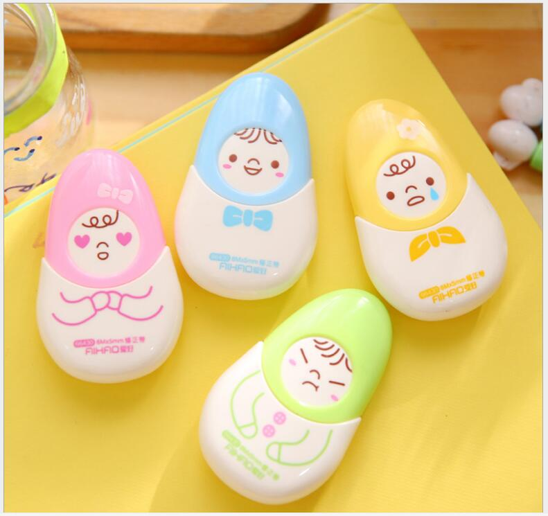 Korea Cute Doll Correction Tape Office Stationery Material School Supplies Corrective Escolar Cinta Papeleria  WJ0693
