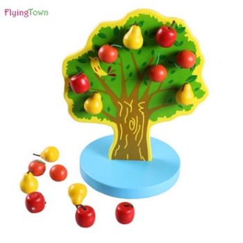 Wooden fruit tree magnetic calculation mathematics teaching AIDS educational math wooden toys baby kids learning brinquedos doll