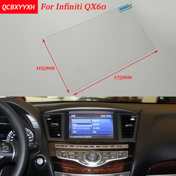 Car Sticker 8 Inch GPS Navigation Screen Steel Protective Film For Infiniti QX60 Control of LCD Screen Car Styling image