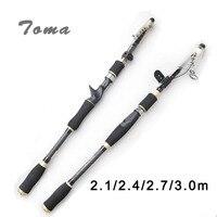 Casting Fishing Rod 2 1m 2 4m 2 7m 3 0m MH Hard Carbon Fiber Rods