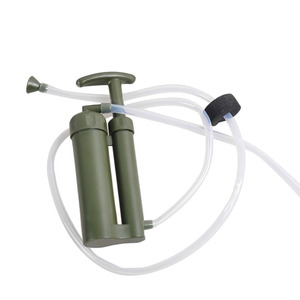 Image 3 - Tragbare Wasser Filter Outdoor Reinigen Pumpe Mini Persönliche Wasser Filteres Stroh Neue Armee Grün Wandern Camping Sicherheit Überleben Werkzeuge