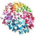 1 Unids DIY Mariposa Nuevos pequeños regalos 3D luminosa fluorescente magnética Pegatinas PVC