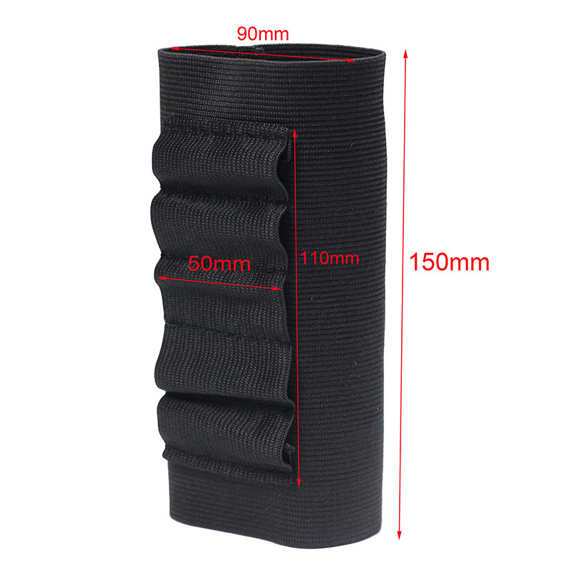 Airsoft Rifle Hunting Tactical Shotgun Pouches 5 Butt Cartridges Stock Shell Holder Elastic Fabric Ammunition Carrier Newest 4