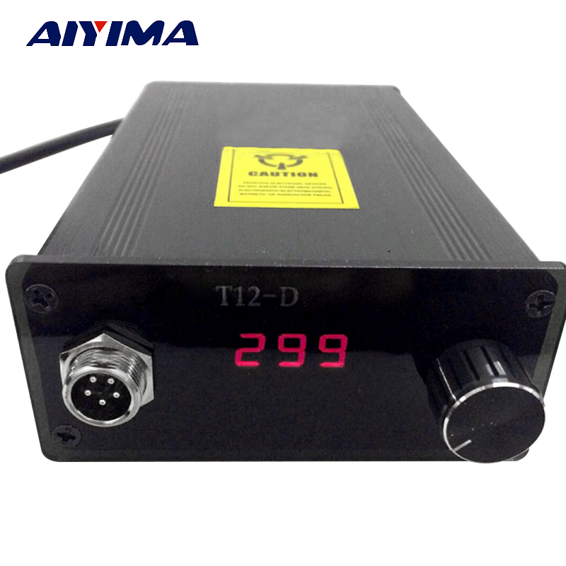 T12 Digital Soldering Iron Station Temperature Controller Compatible 936 Heating Core Thermostatic Automatic Sleep 72W EU Plug  цены