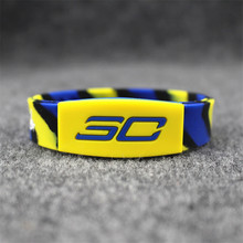 3pcs/lot new arrival energy bangle silicone balance bracelets basketball sports super star signature power wristband for curry(China)