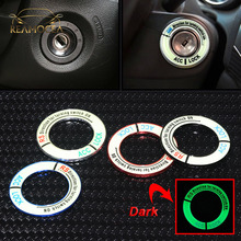 Reamocea Luminous Alloy Car Ignition Switch Cover Auto Car Accessories Stickers For Honda For Civic City