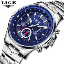 LIGE Mens Watches Top Brand Luxury Quartz Watch Men Waterproof Sport Wristwatch Fashion Business Male Relogio Masculino
