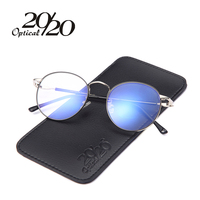 20/20 Retro Mężczyźni Okulary Ramki Kobiety Okulary Projektu Marka Moda Unisex Nowy Okulary Metalowej Ramie S22119