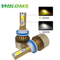 YHKOMS Car LED Headlight H11 H4 LED HB4 9006 HB3 9005 H8 H27 Auto LED Light