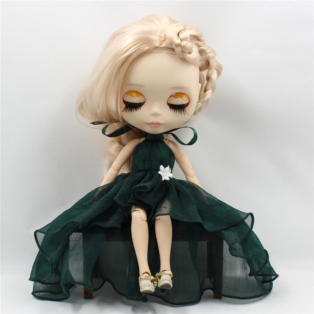 Neo Blythe Doll Chiffon Dress with Flower 7