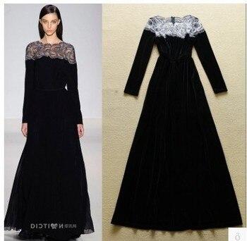 S M L Vintage long dresses black dress women vestidos longo femme wedding clothes festa retro robe elegant dress evening party