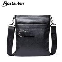 BOSTANTEN Small Vintage Men Messenger Bags Famous Brand 2017 Crossbody Casual Bag Genuine Leather Bag Mens Shoulder Bag Laptop