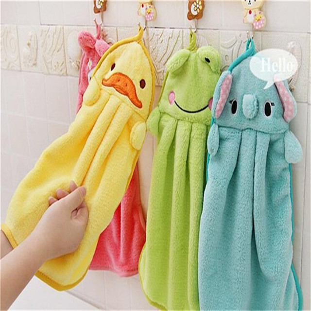 Cute Colorful Baby Towel Sweet Candy Cartoon Super Soft Coral Fleece Kid Towel Wipe Sweat Hanging Towel drop shipping