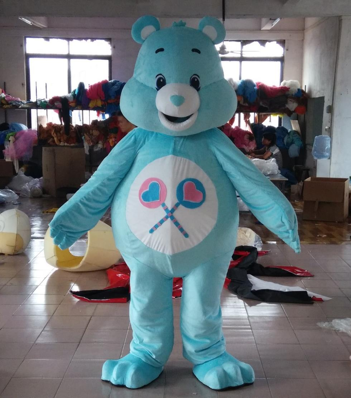 custom-made sky blue care bears mascot costume care bears costume
