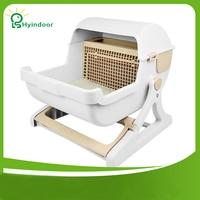 Automatic Quick Cleaning Bedpans Semi enclosed Cat Litter Toilet Pet Anti Splash Extra Large Size Boxes Adjustable Bracket