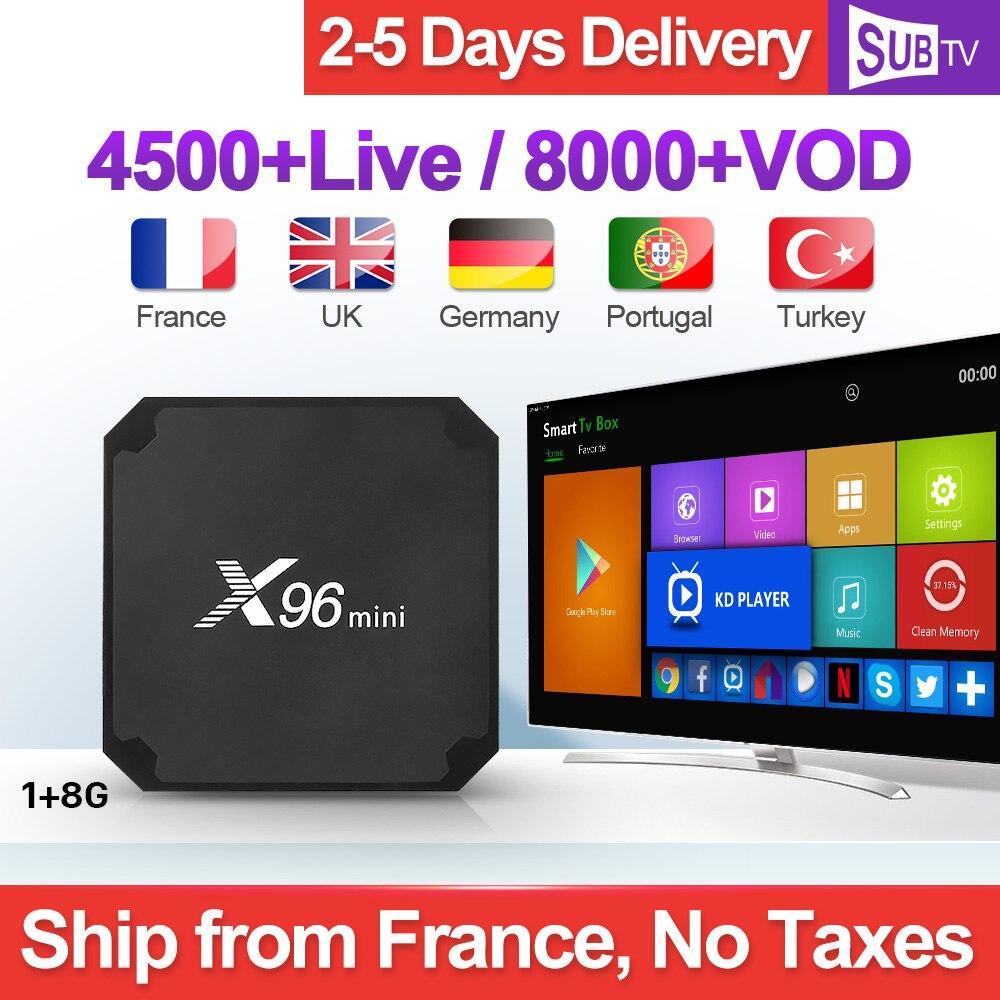 SUBTV Subscription 1 Year X96 MINI IPTV France Box Android France Arabic IPTV Turkey Portugal Italia