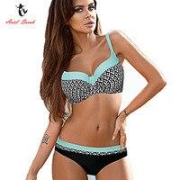 Ariel Sarah Floral Bikini Set 2017 Plus Size Swimwear Patchwork Push Up Swimsuit Women Sexy Monokini