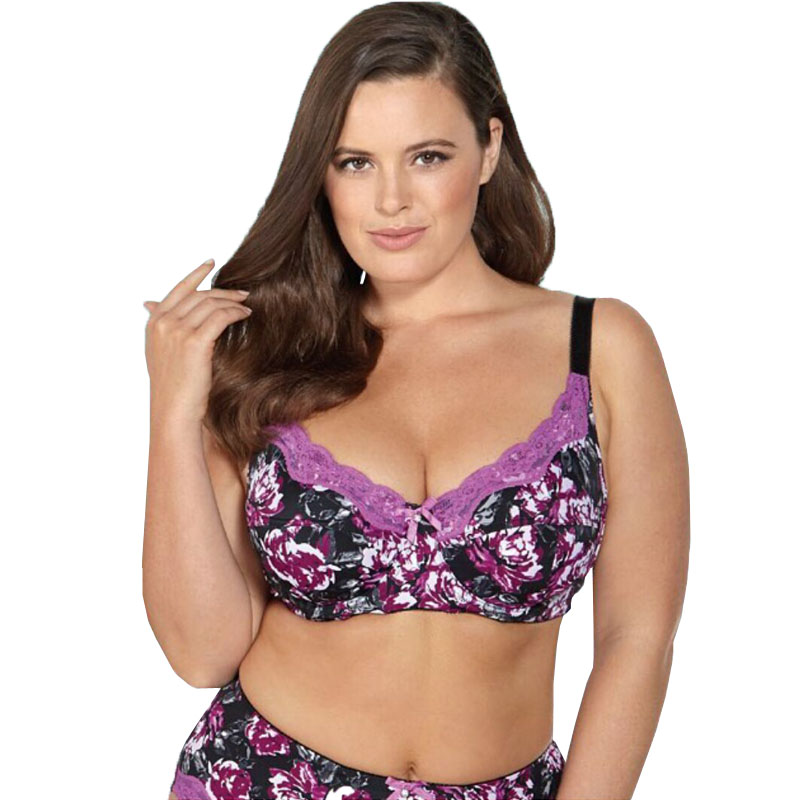 12b3205d7 BL953P Women Bra 6 Colours Printing Floral No-padded Unlined Push Up Full  Cup Plus