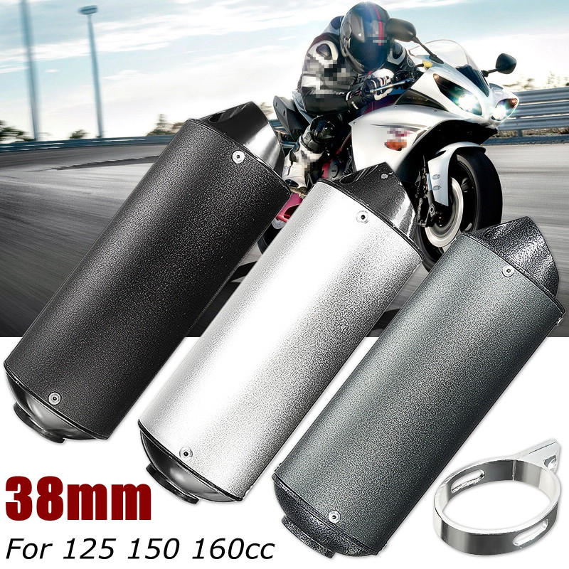 цена на 38mm Motorcycle Exhaust Muffler Pipe for 125 150 160cc Dirt Pit Bike ATV