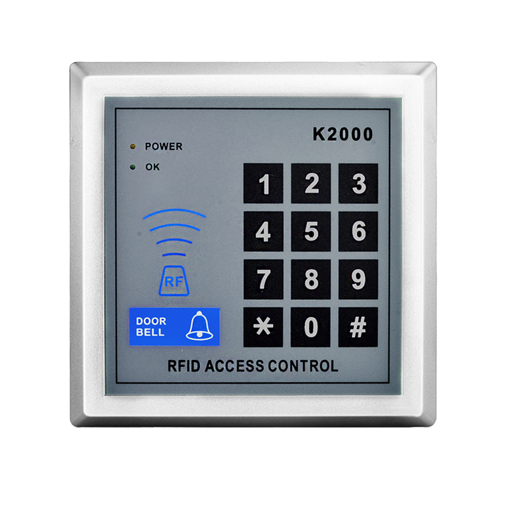 RFID Access Control K2000 Keypad Rfid Key Fob Readerl For Door Lock System diysecur magnetic lock door lock 125khz rfid password keypad access control system security kit for home office