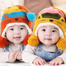 1pieces cap Baby winter hats Suitable 6-36 months old star baby hats Cute Cat ear cap Children's Kit Lens Cap Thick Warm Cozy(China)