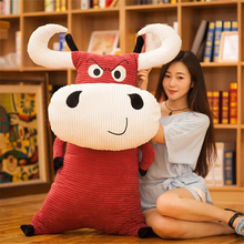 Fancytrader Big Pop Anime Cow Plush Pillow Toy Giant Soft Cute Stuffed Milk Cow Animals Doll One Piece Gift for Children