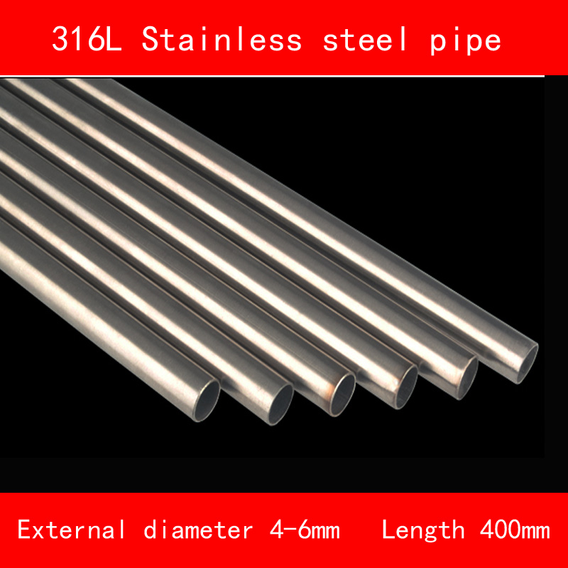316L Stainless steel Pipe Outside Diameter 4mm 5mm 6mm Wall Thickness 0.5mm 1mm Length 400mm include nickel 304 stainless steel pipe tube outer diameter 20mm wall thickness 1 5mm length 200mm