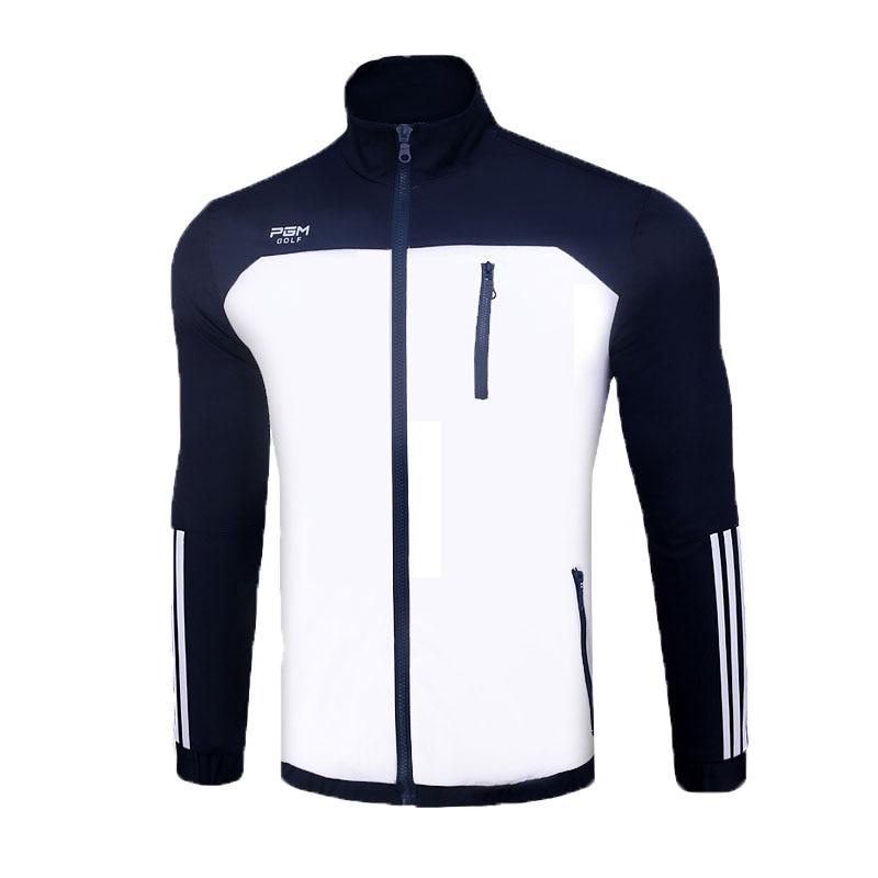 все цены на Men Long Sleeve Golf Jacket Zipper Thin Coat Windproof Outdoor Sports Outwear With Pocket Male Autumn Slim Golf Jackets AA11839