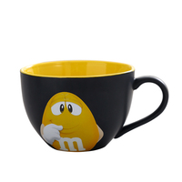 Genuine American M Chocolate Beans Mugs Ceramics tea Cups Coffee Mugs Milk Mugs 600ml Breakfast Cup water Bottle Xmas Gift Cup