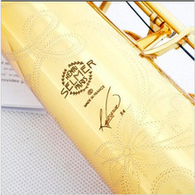 SSS-54 sales B tone the straight soprano saxophone Anniversary Henry Gold Lacquer Brass Carve Pattern saxophone