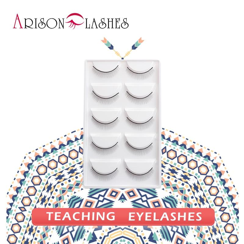 цена Arison 20 pcs/2box Training Lashes Tools Kit for Eyelash Extension Teaching