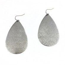 2018 Personalized Metallic Teardrop Earrings Gold Silver Rose Black Large Water Drop Dangle Earrings for Women Fashion Jewelry