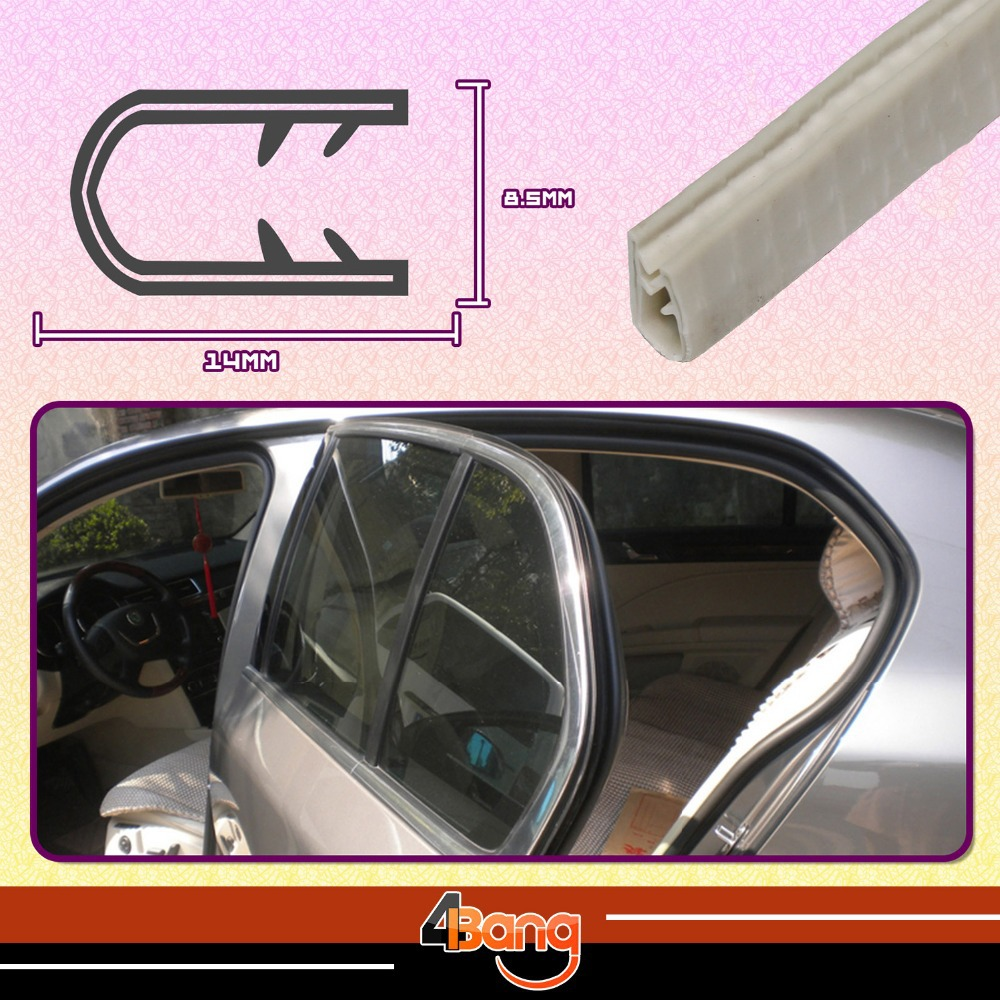 04# white Rubber Edge Trim Seal resistance noise noise dampening Soundproof Dustproof Wa ...